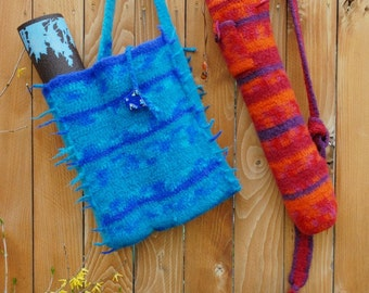 PDF Pattern Yoga Mat Tote & Yoga Class Tote Crochet (Felted)