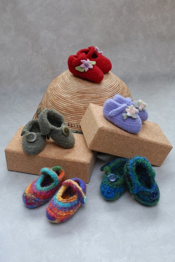 PDF Pattern Peter Pan & Wendy (Felted) Baby Shoes
