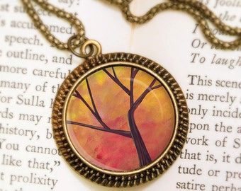 Autumn Tree Necklace - Bronze Pendant - Branching Out - Wearable Art Necklace with Bronze Chain