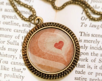 Heart Throb - Bronze Pendant - Wearable Art Necklace with Bronze Chain