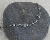 Sterling Silver and Blue Crystal Bracelet