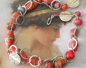Red Desert Sunset Necklace
