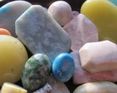 Not to Miss Bargain - Gemstones. SPRING. Assortment. Cabochons. Beads. Jewelry Supplies by GemsBeadsEtc on Etsy. (spring-11-5618)