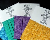 Cute, ruffly cards (fab colors) - set of 4 (FREE SHIPPING)