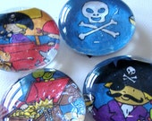 AAAAArggg Pirate Magnets - Set of 4