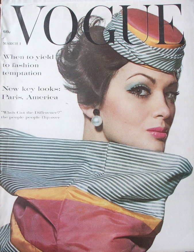 vintage 1960 s fashion magazine vogue march 1961 mad