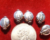 Sterling Silver  Face Beads