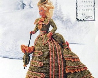 Annie's Attic Heirloom Crochet Doll Dress Pattern 1993 Victorian Lady Centennial Collection. MISS NOVEMBER