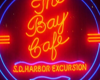The Bay Cafe Neon Photograph