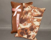 Tissue Cozy - Kleenex Pocket Size Tissue Pack Cover Holder - Pigs