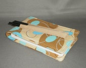 Diary - Notepad Holder with Pen - Journal - Retro - Atomic - Tan, Blue