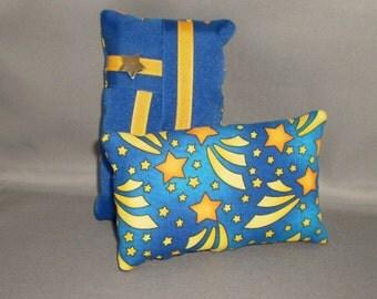 Kleenex Pocket Size Tissue Pack Cover Holder - Stars - Gold - Blue