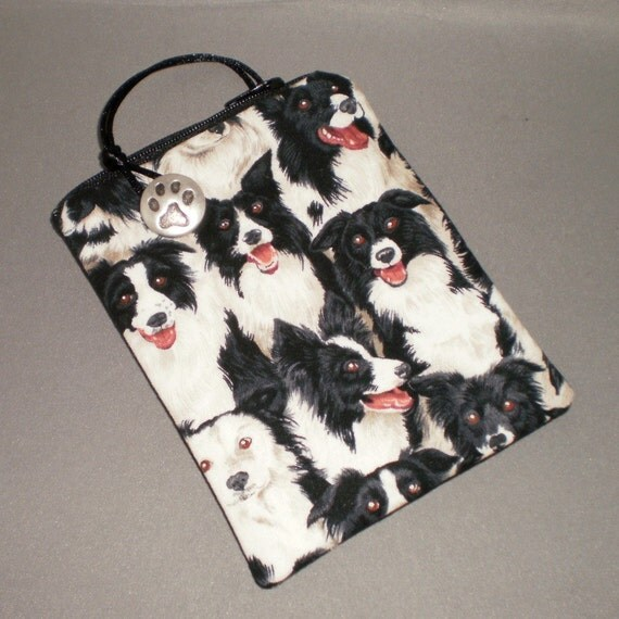 iPhone - Cell Phone - iPod Touch - Smart Phone - Padded Gadget Sleeve - DOGS - Border Collie