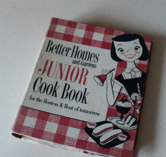Vintage Better Homes and Gardens Junior Cook Book for Children 1955
