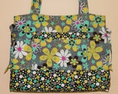 Quilted Bag  Quilted Purse Tote Bag Handbag Quilted Creations By Me Custom Made For You
