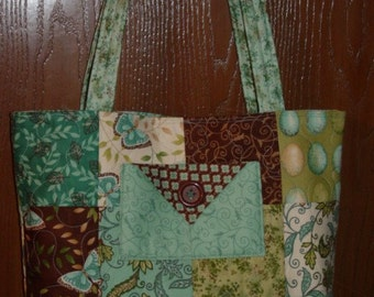 Quilted  Tote Bag   Cherish Nature charms