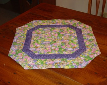 Quilted Table Topper for Easter Made and Ready To Ship
