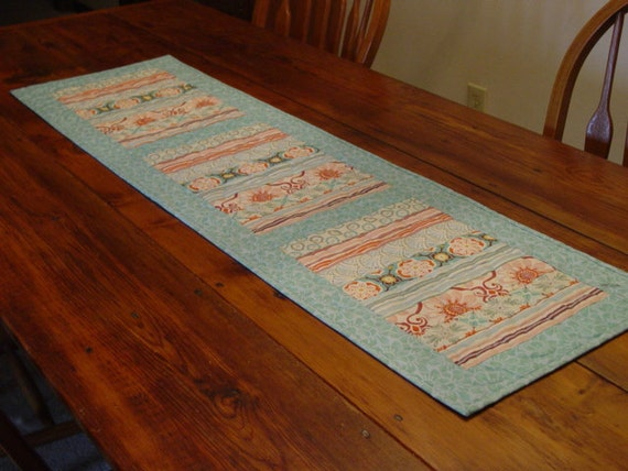 Quilted Table Runner  Made and Ready To Ship