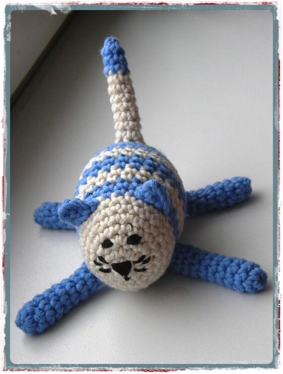 Amigurumi Crochet Cat Frank baby rattle