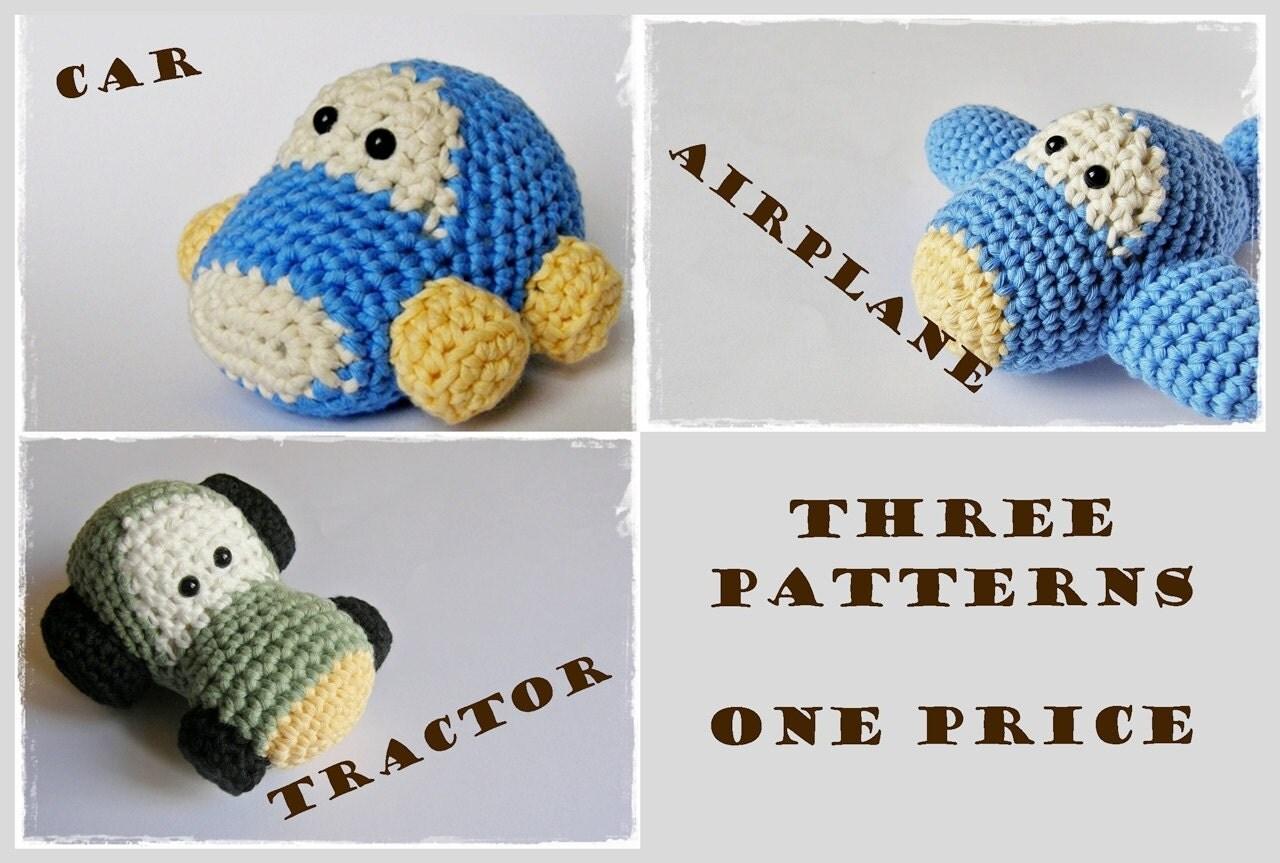 Amigurumi Patterns Cars : Crochet patterns amigurumi vehicles car airplane and by ...