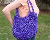 Upcycled/Recycled Shopping Bag (Purple)