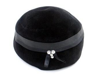 Peachbloom Velour Hat 1960s