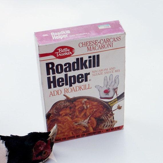 Vintage Roadkill Helper Gag for your Kitchen
