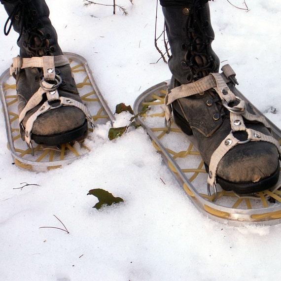 Vintage Aluminum Snowshoes Military