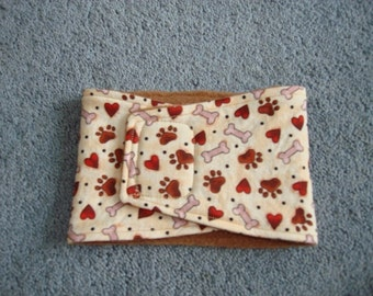 Bones, hearts and paw print Male Dog Belly Band