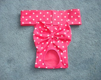 Hot Pink with white Polka Dots - Dog Diaper / Panties