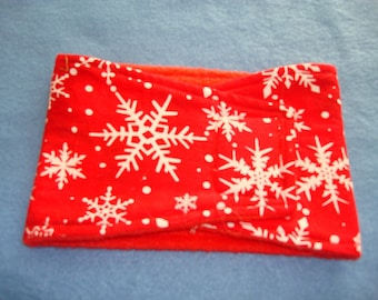 Dog Belly Band - Red with White Snowflakes - Male Dog Diaper