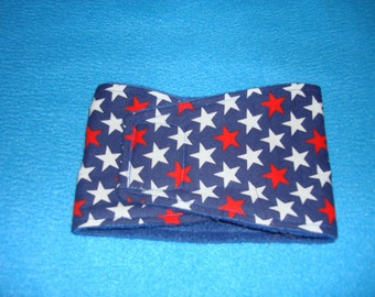 Red, White and Blue Dog Belly Band