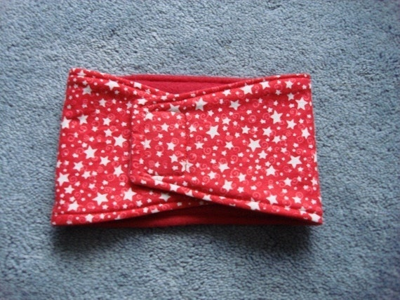 Red and white stars belly band