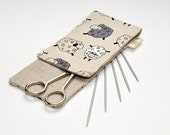 "MINI Needle Case. size: 4"" x 9,2"" (or 4"" x 11""). Needles, Crochets and Hooks Case."