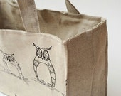 SALE. MINI Knitting Project Bag. OWLS