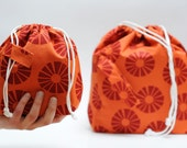 NEW design. Set of 2 Knitter Project Bags. LARGE and MINI.