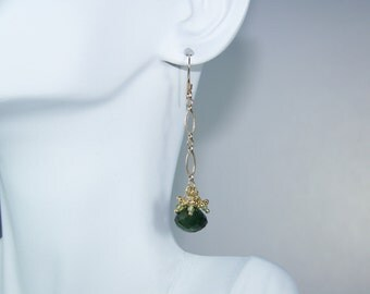 EMERALD ROSEBUD EARRINGS
