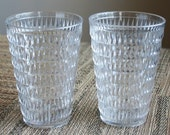 Set of 2 Retro Arrow Drinking Cups - Plastic - USA - Stackable