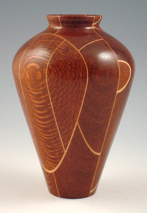 Leopardwood and maple vase