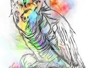 Owl-Digital Drawing