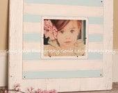 24x24 Chunky Cottage Frame 8x10 opening Blue & White
