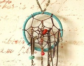 Chained Dream Catcher Necklace - PurpleShmurpleShoppe