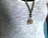 Onyx Mala Inspired Necklace