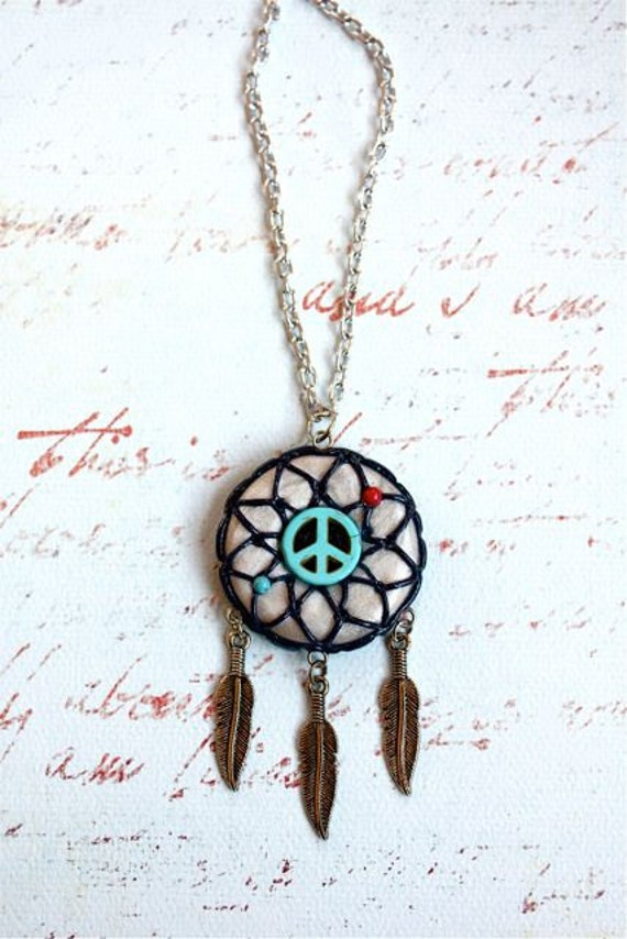 Peace Dream Catcher Necklace