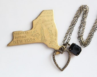 I Heart NY - Vintage Charm Necklace, as seen in Tiger Beat March 2012 issue