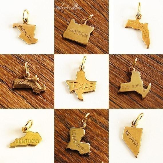Teeny Tiny State Necklace - custom charm pendant