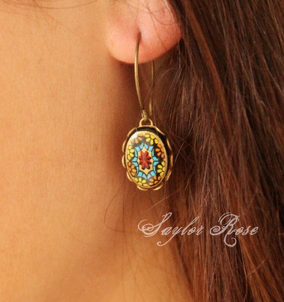 Bohemian Dream Earrings, Vintage, Handmade