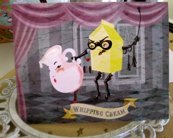 Whipping Cream Note Card