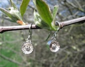 Small Tennessee Coneflower Silver Dangle Earrings