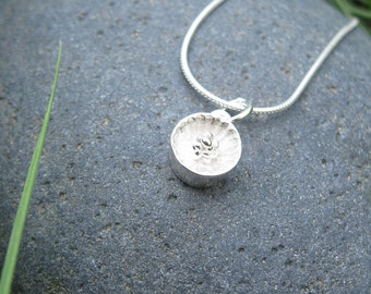 Small Tennessee Coneflower Silver Necklace